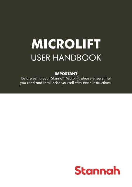 microlift user handbook988kincluding 50 100kg stannah Automotive Wiring Diagrams at Stannah 300 Wiring Diagram