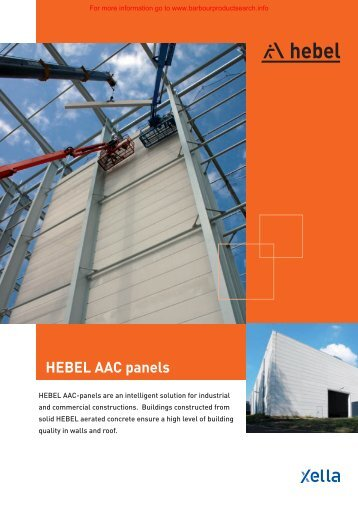HEBEL AAC panels - BD Online Product Search