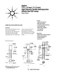High Intensity, Double Heterojunction AlGaAs Red LED Lamps