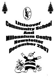 December 2007 - Littleover Community School