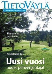 Tietoväylä 1 / 2011 - Golfpisteen etusivulle