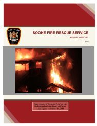Fire Annual Report - District of Sooke