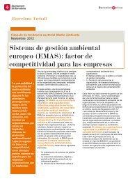 Sistema de gestión ambiental europeo (EMAS ... - Barcelona Treball