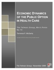 Economic Dynamics of the Public Option in Health ... - Telmarc Group