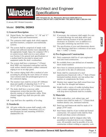View PDF version - Winsted Corporation