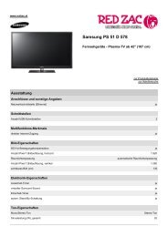 Produktdatenblatt Samsung PS 51 D 578 - Red Zac