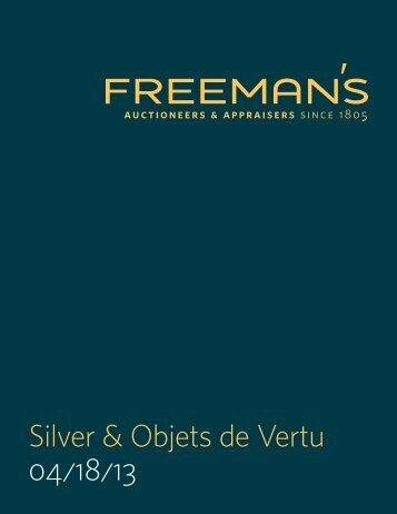 Silver & Objets de Vertu 04/18/13 - Freeman's Auctioneers