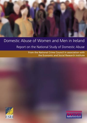 Domestic Abuse of Women and Men in Ireland - ESRI