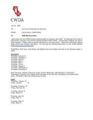 Meetings Memo to Dir#44AB5C - CWDA