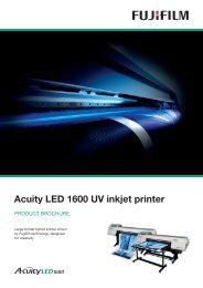 EU3041 Acuity LED 1600 Product Brochure.indd - Fujifilm Sericol