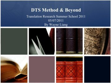 DTS Method Beyond.pdf - The Translation Research Summer School