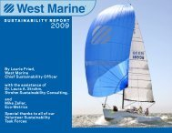 SUSTAINABILITY REPORT By Laurie Fried, West Marine Chief ...