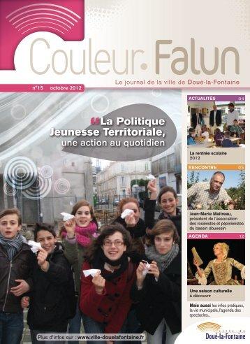 Couleur Falun 15 - Octobre 2012 [pdf - 5Mo] - Doué la Fontaine