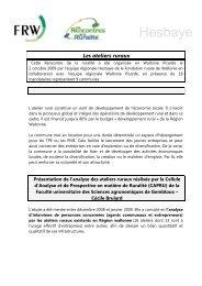 Hesbaye - Fondation rurale de Wallonie