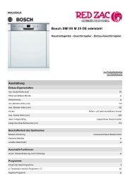 Produktdatenblatt Bosch SMI 85 M 25 DE edelstahl - Red Zac