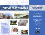 Design Guidelines and Procedures - Fort Thomas, KY