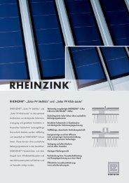 """RHEINZINK® - """"Solar PV Stehfalz"""" und -""""Solar PV Klick-Leiste"""""""