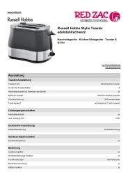 Produktdatenblatt Russell Hobbs Stylis Toaster edelstahl ... - Red Zac
