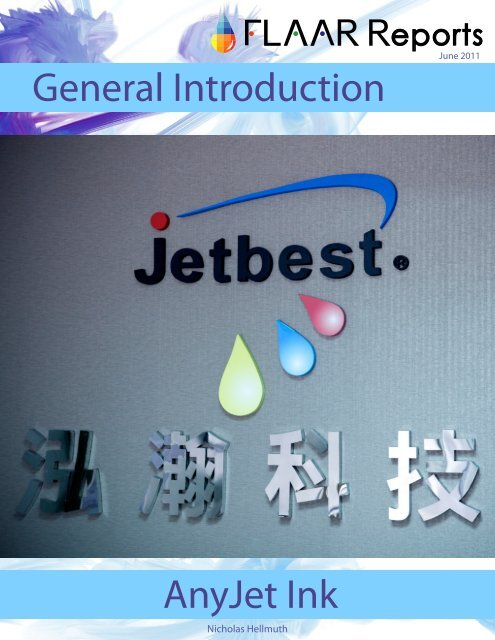 General Introduction AnyJet Ink - large-format-printers.org