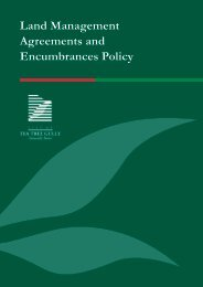 Land Management Agreements and Encumbrances Policy