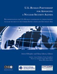 U.S.-Russian Partnership for Advancing a Nuclear Security ... - CNS