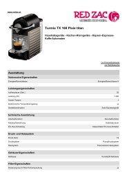 Produktdatenblatt Turmix TX 160 Pixie titan - Red Zac