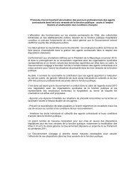 un protocole d'accord portant sécurisation des ... - Emploipublic.fr