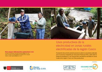 Usos productivos de la electricidad en zonas rurales ... - CEDECAP