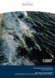 Kvartalsvis Orientering 1/2007 - Søfartsstyrelsen
