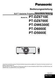 PT-DZ6700E PT-DW6300E PT-D6000E PT-D5000E - Panasonic