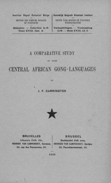 CENTRAL AFRICAN GONG-LANGUAGES