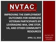Improving the employment outcomes for HVRP - Burton Blatt ...