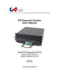 PCI Expansion System User's Manual - Chassis Plans