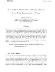 Parameter Identification of Elastic Modulus Using First Order Adjoint ...