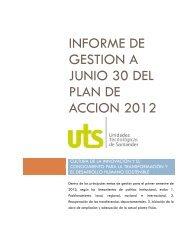 Informe de Gestión primer semestre 2012 - Unidades Tecnológicas ...