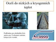 Oceli do nízkých a kryogenních teplot - ateam.zcu.cz