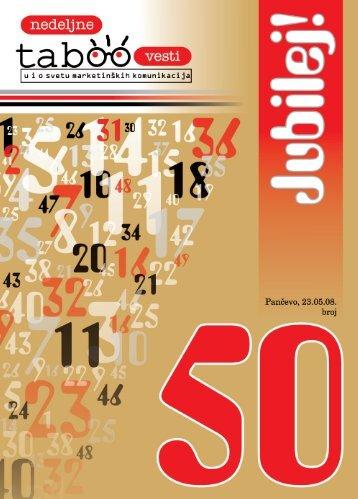 NEDELJNE TABOO VESTI - BROJ 50 (.pdf)