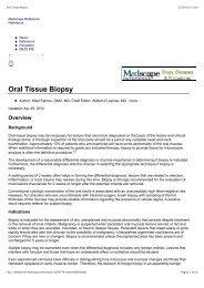Oral Tissue Biopsy - Giovanni Maria Gaeta
