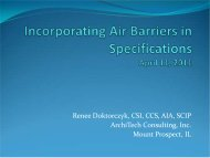 Incorporating Air Barriers in Specifications - Renee Doktorczyk