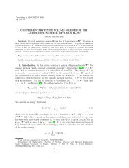 COMPLEMENTARY FINITE VOLUME SCHEME FOR THE ...