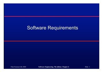 Software Requirements - Ian Sommerville
