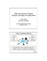 Static and Dynamic Program Analysis - Suif - Stanford University