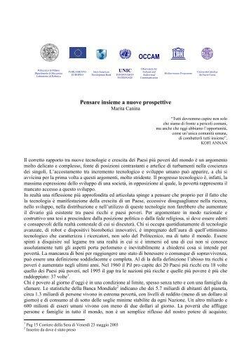 Pensare insieme a nuove prospettive - Politecnico di Milano