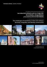 Los retos de la historia oral en el siglo XXI: diversidades ...