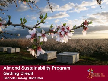Almond Sustainability Program - Almond Board of California