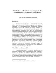 Distributed Leadership in Secondary Schools - Bangladesh Online ...