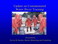 Update on Contaminated Water Diver Training - Scuba Center