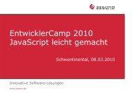 EntwicklerCamp 2010 JavaScript leicht gemacht