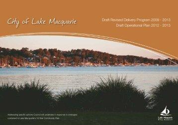 2013 Draft Operational Plan 2012 - 2013 - Lake Macquarie City ...