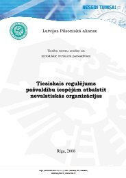 Tiesiskais regulējums pašvaldību iespējām atbalstīt nevalstiskās ...